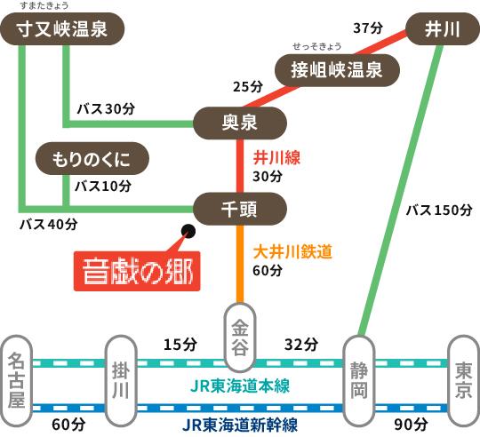 鉄道・バスをご利用のお客様(JR東海道本線・新幹線利用)